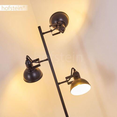 Stehleuchte Steh-Lampe Leuchte Lampe Fußschalter am Kabel Metall schwarz modern