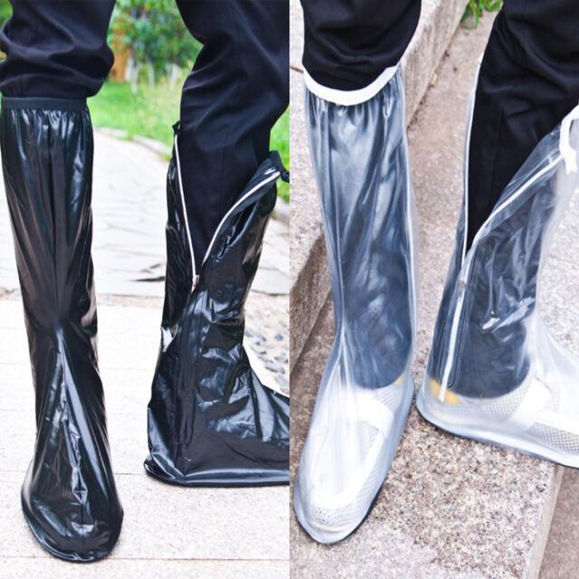 Practical Men women Unisex shoes Frosted Tall PVC rain non-slip shoe covers T149
