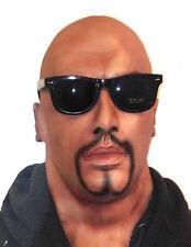 Realistic Latex Mask Black Male Man Disguise Halloween Fancy Dress Goatee Beard