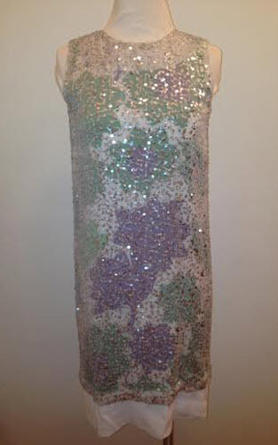 DVF Izzy Sequined Printed Silk Dress Size 2
