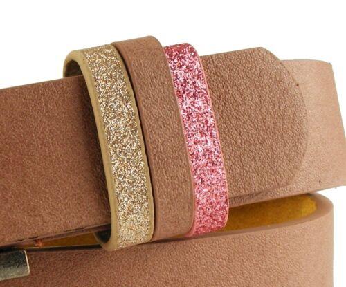 Designer Damengürtel Vintage matt rosa altrosa schmal 2,7 cm  #RO12