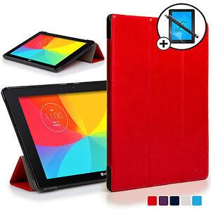 715c8e63ac2 La imagen se está cargando Rojo-Funda-Smart-Carcasa-para-LG-G-Pad-