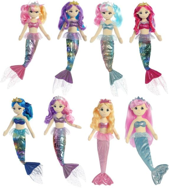 Belle Sea Sparkles Soft Toy 18In 60850 Silver Aurora