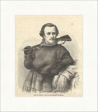 Paul von Krusenstern Sprengel russ. Polarforscher Wissenschaft Holzstich E 11429