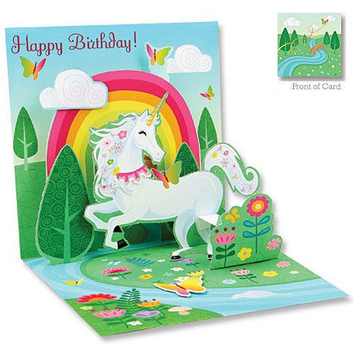 3D Pop Up Greeting Card from Up With Paper - UNICORN - Birthday - UP-WP-1062