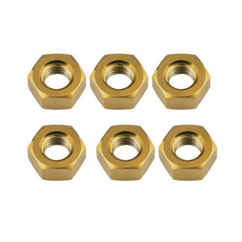 Wanyifa Titanium Ti M5 M6 M8 Hex Nut Standard Pitch pack of 6 Gold Ranibow