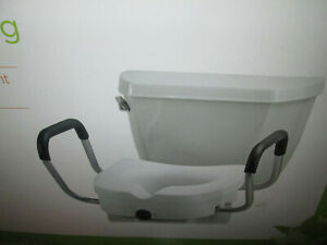 Super Details About Nova Locking Raised Toilet Seat With Arms Cjindustries Chair Design For Home Cjindustriesco