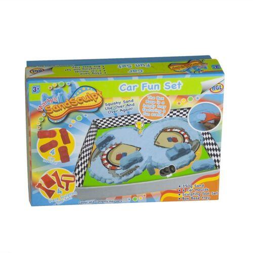 Kids Cars SandSculpt Fun Set for Boys /& Girls Sand Racing Car Vehicles Birthday