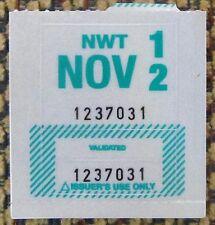 Northwest Territories 2012 License Plate STICKER NOS MINT # 1237031