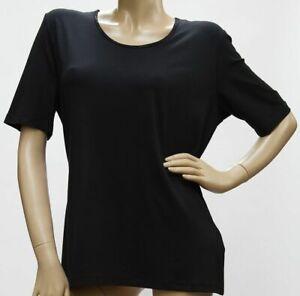 Shirt-Kurzarm-Rundhals-Viskose-mit-zartem-Strass-schwarz-38-52