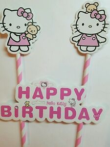 dfb7aa3f1 Image is loading Hello-kitty-Birthday-Cake-Topper-Decoration-Party-Supplies