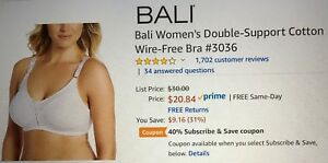 88a6fbc55c Image is loading Size-38C-Bali-Women-039-s-Double-Support-