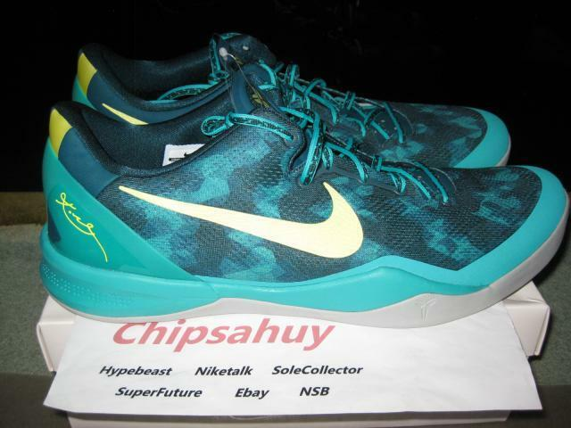 Nike Kobe 8 VIII atomic teal colorway Lunarlon mesh upper new Size 18