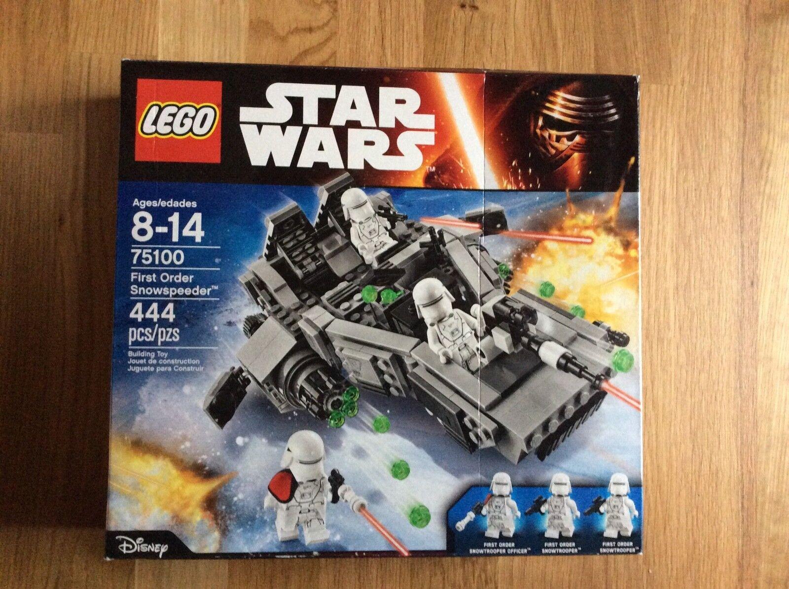 New Lego Star Wars First Order Snowspeeder Set 75100 Sealed Damaged Box