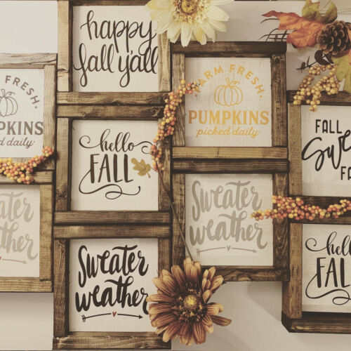 Tiered Tray Signs Farmhouse Sign Rustic Signs Mini Fall Signs Autumn Signs