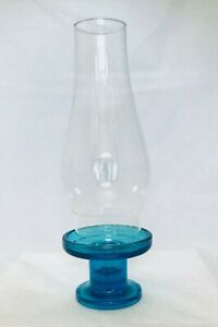 Unusual Collectible Aqua//Turquoise Blue Glass Votive Tealight