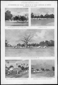 1898-Antique-Print-AFRICA-Uganda-Indian-Contingent-Mombasa-Bombay-Infantry-37