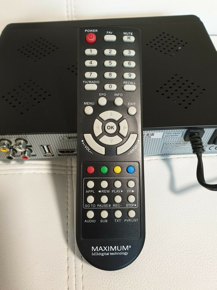 (MPEG4) Digital modtager, Maximum, XO-306C DVB-C PVR