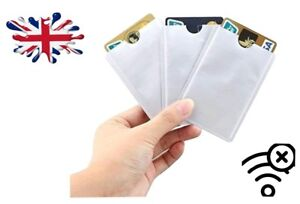 RFID-BLOCKING-CARD-SLEEVE-ANTI-THEFT-WALLET-DEBIT-CREDIT-OYSTER-CONTACTLESS-LOT
