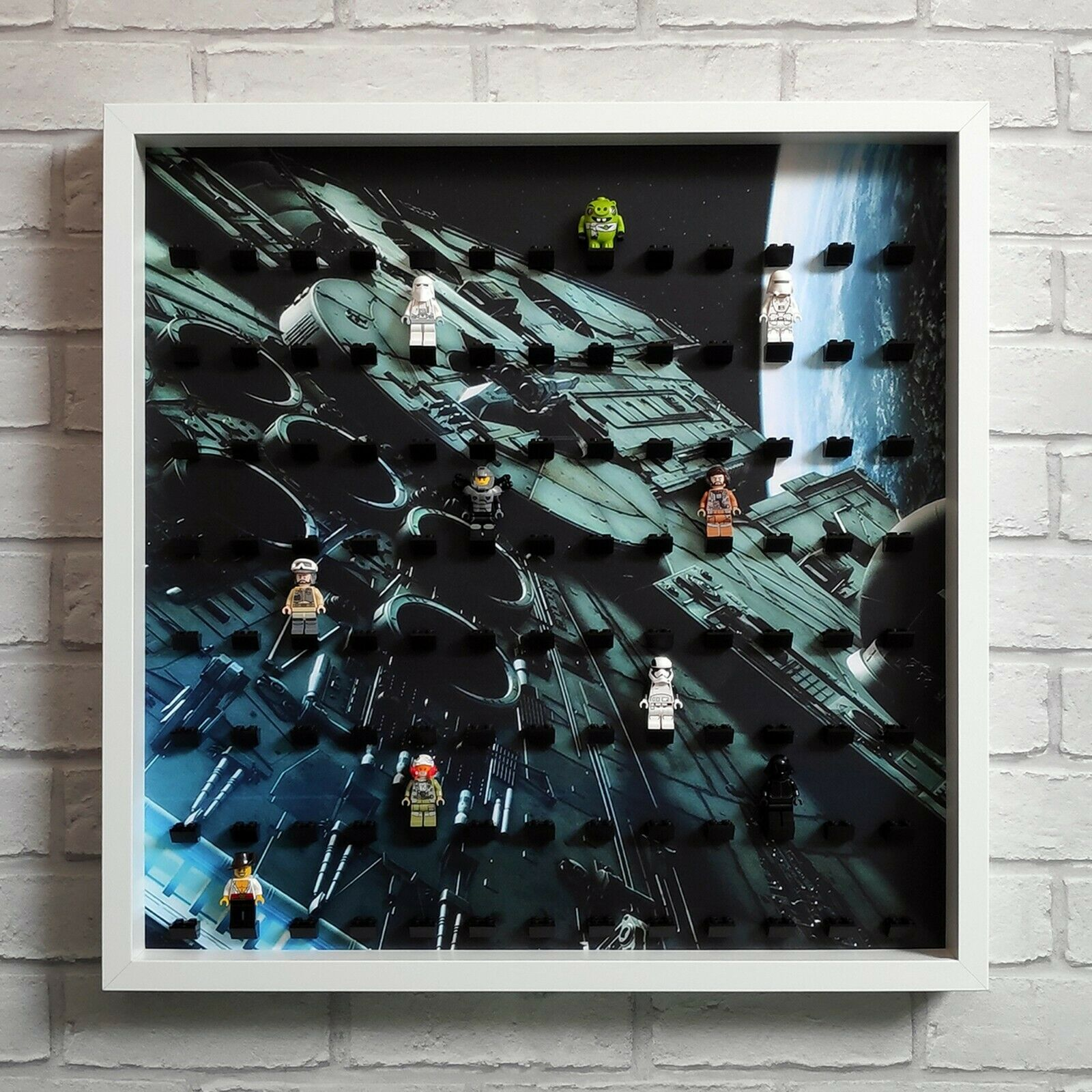 LEGO Minifigure Display Frame Case Large - Fits 104 Minifigs - Weiß (Star Wars)