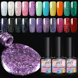 MAD-DOLL-Nagel-Gellack-Pailletten-Glitzern-Nail-UV-Gel-Polish-Soak-Off-Gel-UV