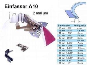Einfasser-Bandeinfasser-A10-fuer-Band-50-mm-zu-Fertigbreite-16-mm-made-in-Asien