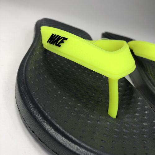 882690-700 New Nike Solay Thong Flip Flops Sandals Volt//Grey Men Size 7,9 /& 14