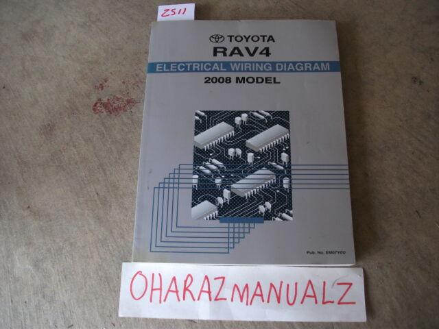2008 Toyota Rav4 Electrical Wiring Diagram Manual Oem