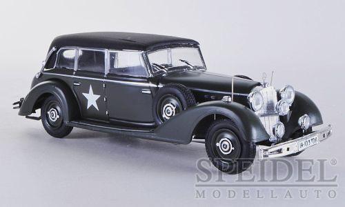 70% de descuento Maravilloso modelCoche Mercedes-benz 770 Us-army 1945-Negro Mate-Escala 1 1 1 43  autorización oficial