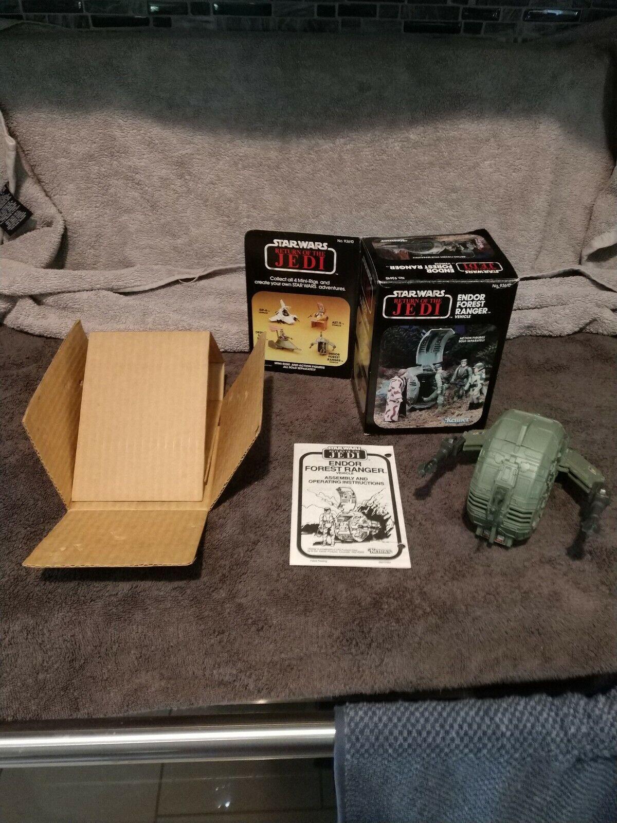 Vintage Star Wars KENNER ENDOR FOREST RANGER  Complete box instructions inserts