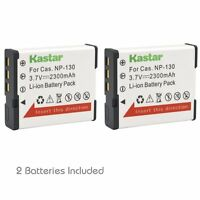2x Kastar Battery For Casio Np-130 Exilim Ex-zs1500 Ex-zr5000