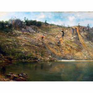 Martin-Iron-Mine-Port-Henry-New-York-Landscape-Painting-XL-Canvas-Art-Print