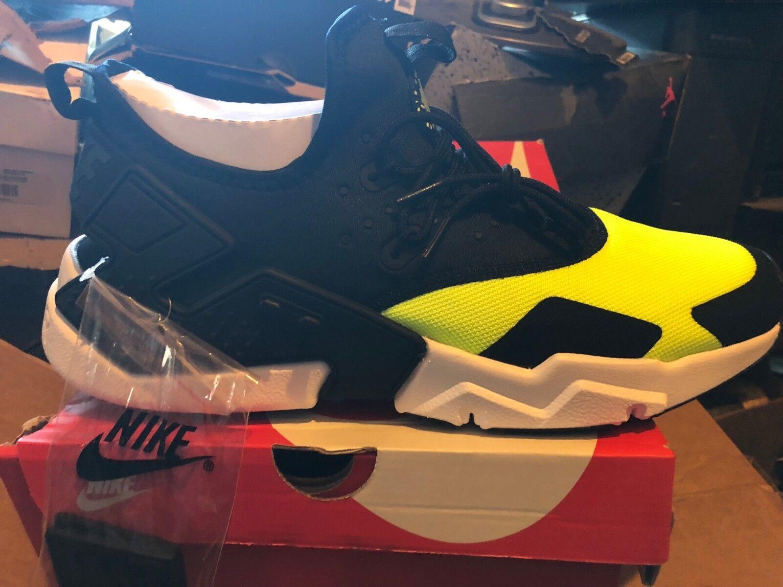Nike air huarache huarache huarache treiben bnib blk / volt / Weiß 12 ah7334 700 7be89b