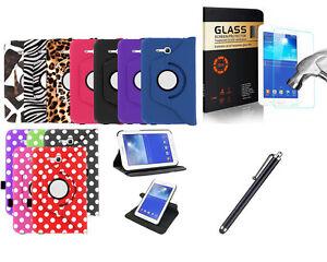 Galaxy-Tab-E-7-0-Lite-Case-Cover-Tempered-Glass-Screen-Protector-Stylus-by-KIQ