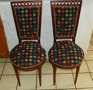 Free gift Pair of Mahogany Mid Century Sidechairs / Entry