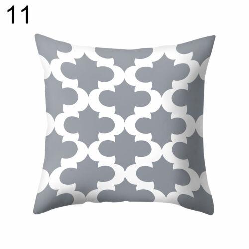 Grau Geometrische Quadratisch Kissen Schutzhülle Kissen Bettwäsche Dekor