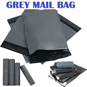 Strong Grey Coloured Plastic Mailing Post Poly Postage Bags Self ...