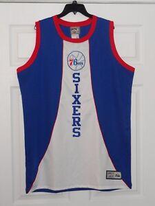 Image is loading Majestic-Hardwood-Classics-Philadelphia-Sixers-76ers-NBA- Basketball- 0ce5a7855