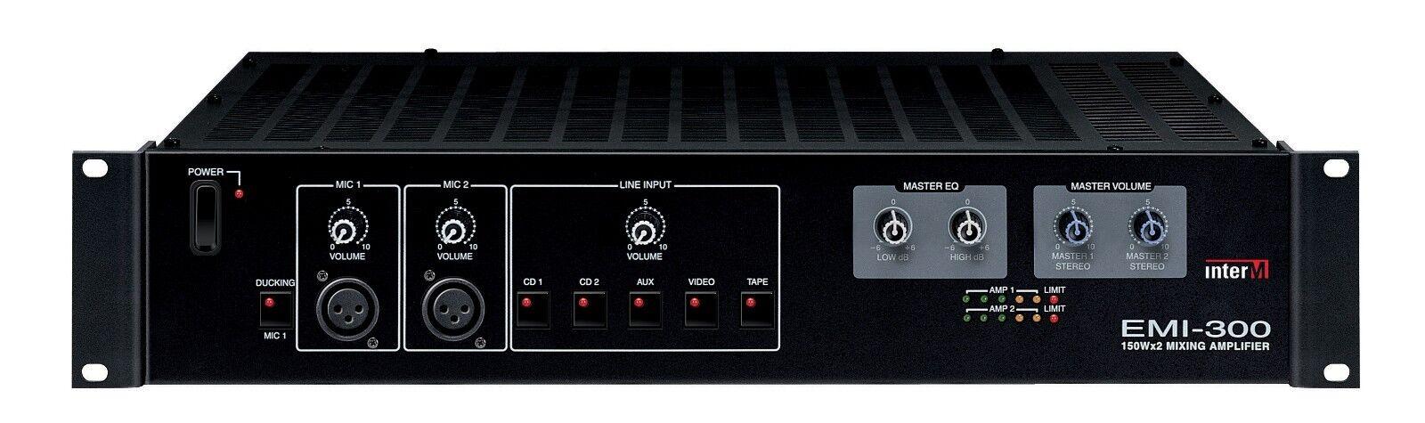 Neu INTER-M Emi300 Betrieben Stereo 100w Mixer   Amp