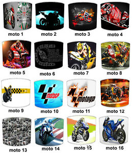 MOTOGP-Lampshades-Ideal-To-Match-Super-Bikes-MOTOGP-Bedding-Sets-amp-Duvet-Covers