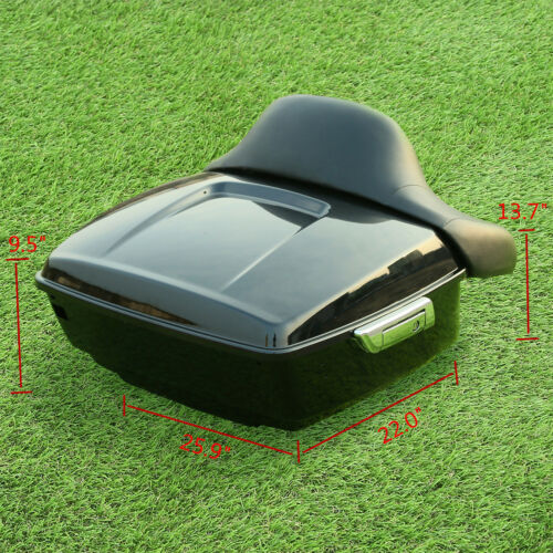King Tour Pak Pack Trunk w// Backrest Pad For Harley Davidson Touring 2014-2019