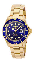 Invicta Men's 17058 Pro Diver Analog Blue Dial Swiss Quartz Gold Watch