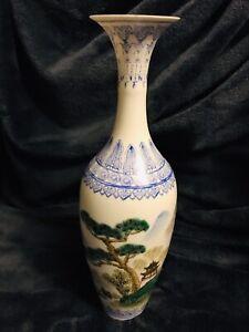 "19th C Chinese Zhon Guo Jingdezhen Zhi Eggshell Porcelain Vase 10"""