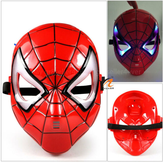 Spider Man LED Light Mask Fancy Masquerade Costume Halloween Party#US