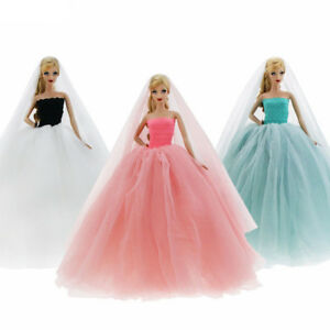 New Fashion Handmade Dress Wedding Party Mini Clothes For Barbie Doll
