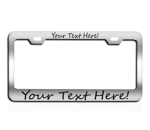 TAG HOLDER CUSTOM TEXT PERSONALIZED CUSTOMIZED License Plate Frame engraved