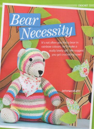stripy bear toy crochet pattern 99p