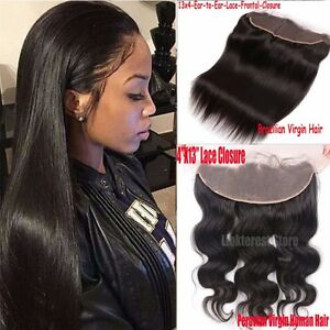 3/4 Bundles With Closure Temperate Straight Hair Bundles With Frontal Closure Malaysian Human Hair Bundles With Closure 13x4 Ear To Ear Lace Frontal Non Remy Hair
