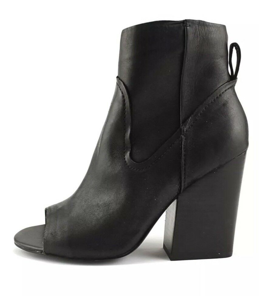 Steve Madden Veronah Women's Boots Boots Boots Black Size 9 NIB Peep Toe 8a1866