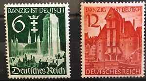 Germany 3rd Reich 1939  Mi 714-715 Sc 492-493 Unification of Danzig MNH  **